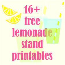 16 free printable lemonade stand decorations up