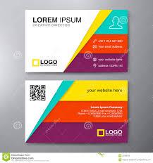 Business Card Design Template Free Modern Business Card Design Template Stock Vector Image 55360230