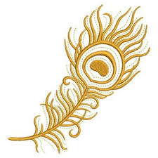 golden peacock feather embroidery designs machine embroidery