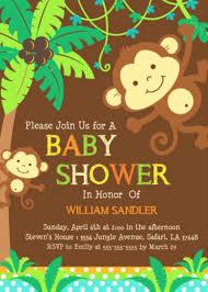 monkey baby shower invites u2013 frenchkitten net