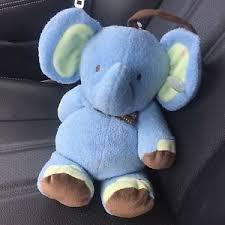 elephant blue musical crib toy just one year ebay