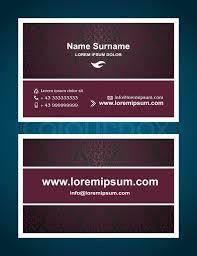 Business Cards Front And Back Business Card Creative Design Vintage Elegant Style Print Front