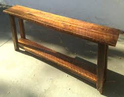 Narrow Sofa Table Sofa Table A Narrow Sofa Table Handmade From Tiger Maple