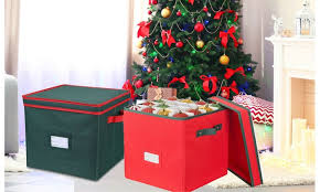 christmas ornament storage christmas ornament storage box with lid hold up to 64 ornaments