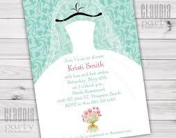 bridal brunch shower invitations wedding dress bridal shower invitations party designs