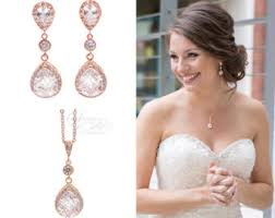 bridesmaid jewelry sets bridal jewelry set etsy
