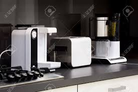 high tech kitchen appliances modern luxury black and white