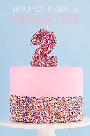 How To Make Cake Decorations Diy Sprinkle Cake Sprinkles For Breakfast