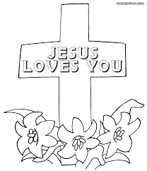 cross coloring pages htm fabulous jesus loves you coloring page