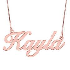 gold name necklace hacool personalized necklace custom name necklace
