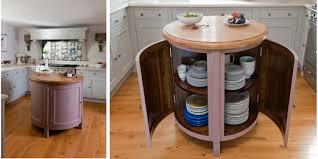 Oval Kitchen Islands Small Circular Movable Kitchen Island Table