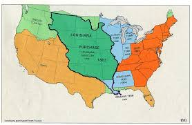 usa map louisiana purchase the louisiana purchase was purchased by jefferson