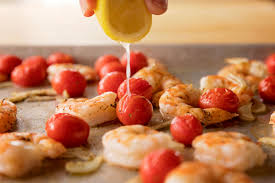 shrimp u0026 tomato sheet pan supper the pioneer woman