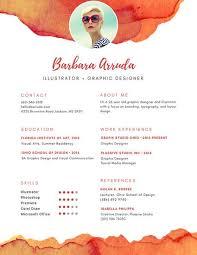 orange graphic designer resume templates by canva