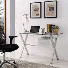 modway eei 1181 whi stasis office desk w stainless frame gloss