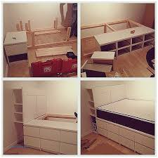 storage benches and nightstands new ikea malm bed frame with