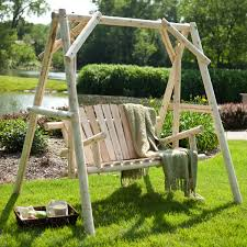 rustic log porch swing u2013 adorable home