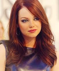 emma stone u0027s long hairstyles red straight hair popular haircuts