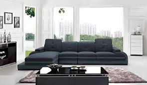 Modern Fabric Sectional Sofa Casa 5132 Modern Fabric U0026 Bonded Leather Sectional Sofa