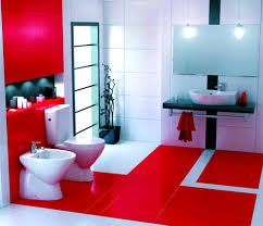 bathroom good looking add warmth your house ideas from these red
