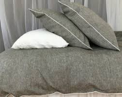 Chambray Duvet Cover Queen Light Grey Linen Duvet Cover Stonewashed Queen King Twin