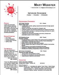 Artistic Resume Template Interesting Resume From An Interior Designer Graphic Designer