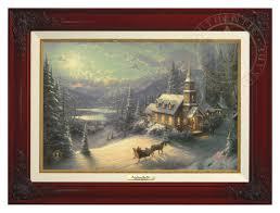 kinkade home interiors sunday evening sleigh ride canvas classic the kinkade