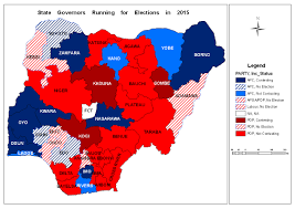 Map Of Nigeria Africa Incumbency And Opportunity Forecasting Nigeria U0027s 2015 Elections