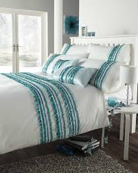 single bed size duvet quilt cover set carnival turquoise grey