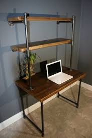 Homemade Wood Computer Desk by Wildwood Metal Frame Rustic Desk Overstock Com Shopping Great