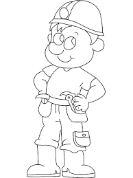 mailman hat coloring page community helpers coloring page construction worker coloring pages