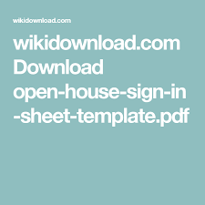 wikidownload com download open house sign in sheet template pdf