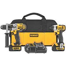 amazon black friday tools dewalt dck290l2 20 volt max li ion 3 0 ah hammer drill and impact