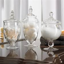 clear glass canisters for kitchen glass canisters for bathroom impressive your home