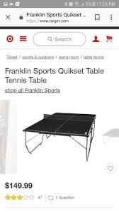 franklin sports quikset table tennis table foosball table for sale in garland tx 5miles buy and sell