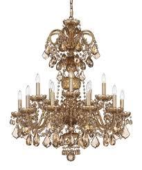 15 Light Chandelier Schonbek 6814tk Olde World Golden Teak 32 Inch Wide 15 Light