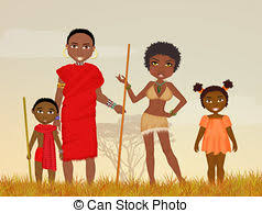 family tribal family with clip search