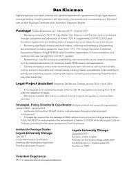 Detail Oriented Resume Resume U2013 Dan Kleinman Of Chicago