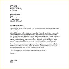 resignation letter exles notice sle of resignation