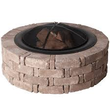 Stone Fire Pit Kit by Pavestone Rumblestone 46 In X 14 In Round Concrete Fire Pit Kit
