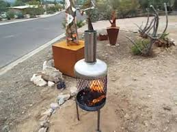 Homemade Chiminea Propane Tank Chimenea Fire Pit Youtube