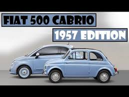 fiat 500 edition spec fiat 500 cabrio 1957 edition this retro looking car available in