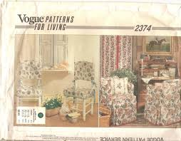 sewing patterns for home decor vogue home decor sewing pattern 2374 patterns for living chair
