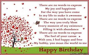 birthday poems for husband u2013 wishesmessages com