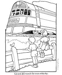 train coloring book pages kids coloring