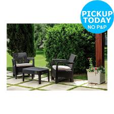 Garden Chairs Argos Keter Tuscany 4 Seater Lounge Set Wood Effect From The Argos
