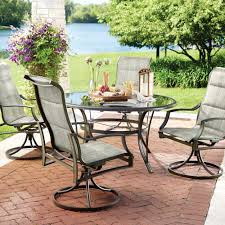 hton bay statesville 5 padded sling patio dining set with