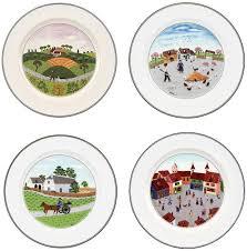 boch design naif dinner plates set of 4