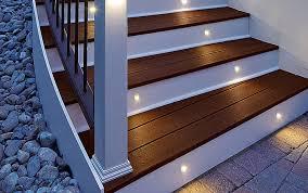 Recessed Deck Lighting Deck Lighting Curved Stair Post Cap Stair Riser Light Classic