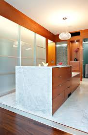 architecture frosted glass for room divider marble floor and wood